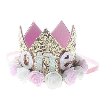 Amazon.com: SANGNI Corona de cumpleaños para niños, corona ...