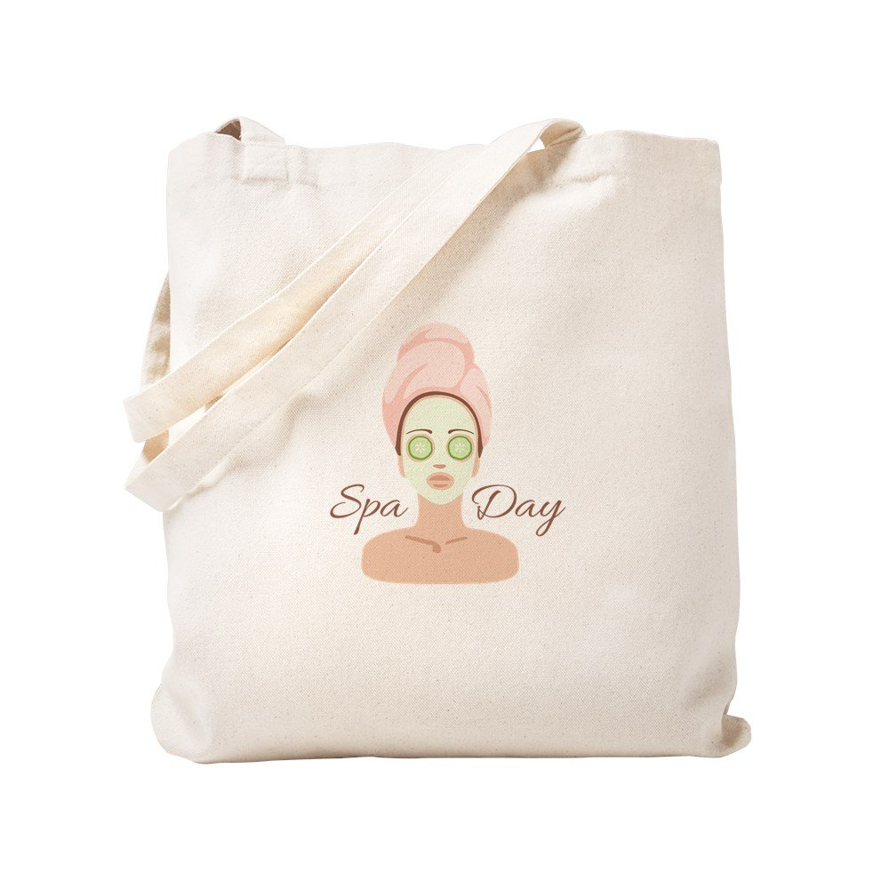 CafePress - Spa Day - Natural Canvas Tote Bag, Cloth Shopping Bag