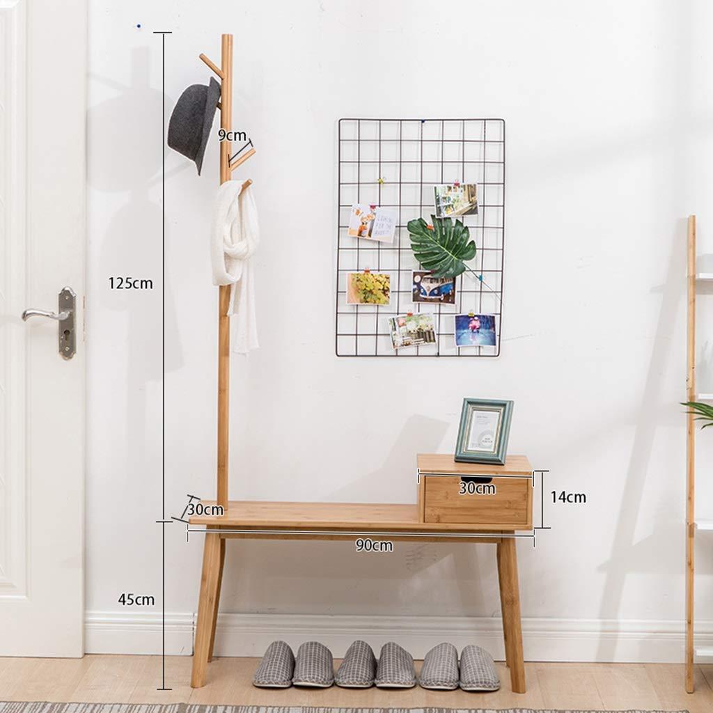 Amazon.com: Nordic Style Coat Rack Shoe Bench One Floor ...