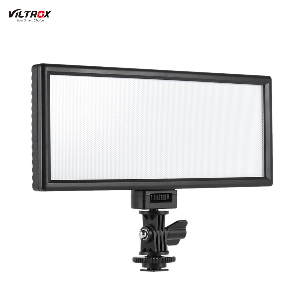 Andoer Viltrox Professional Ultra-thin LED Video Light Photography Fill Light Adjustable Brightness Max Brightness 1082LM 5400K CRI95+ for Canon Nikon Sony Panasonic DSLR Camera and Camcorder (L116T)