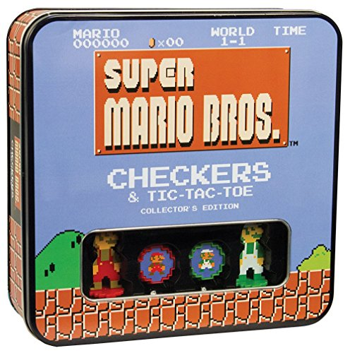 - USAOPOLY Super Mario Bros Checkers & Tic-Tac-Toe Collector's Edition Board Game