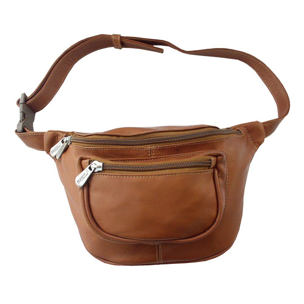 Piel Leather Travelers Waist Bag, Saddle, One Size