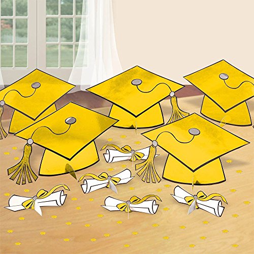 Yellow Graduation Table Decorating Kit | Party Decor | 6 -
