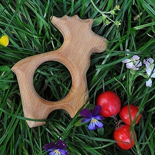 Wooden Teether Elk Wooden Baby Toy