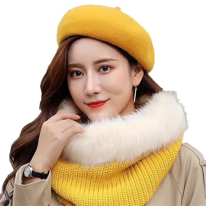 Sombreros para Damas Invierno Boina Sombrero De Lana Mujer Gorros Espesar  Calentar Lana Boinas Casual Moda 68ad7d5b97e