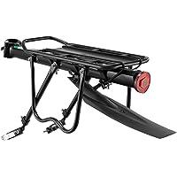 ROCKBROS Fietsbagagedrager mountainbike bagagedrager snelspanner met reflector 24-29 inch met/zonder spatbord…