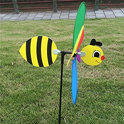 BCHZ 3D Large Animal Bee Windmill,Yard/Garden/Decor: Toys & Games