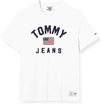 Tommy Hilfiger TJM USA Flag tee Camisa Deportiva para Hombre: Amazon.es: Ropa y accesorios