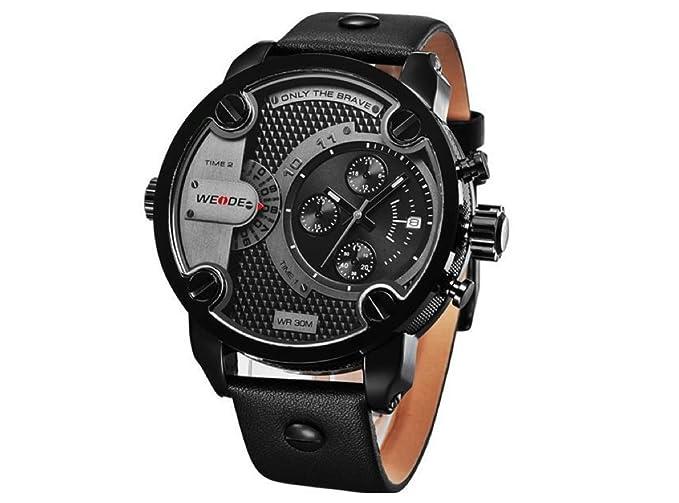 Weide Weide WH-3301 - Reloj, correa de piel de borrego multicolor: Amazon.es: Relojes