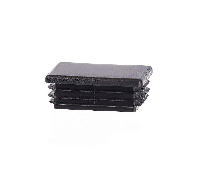 5 Stck. bouchon pour tube rectangulaire 30x20 noir plastique Embout bouchons d'obturation EMFA