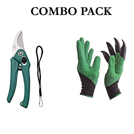 Bulfyss Unisex Garden Gloves with Claws for Digging and Planting, 1 Pair Ergonomic Grip, Incredibly Sharp Secateurs, YSG-603