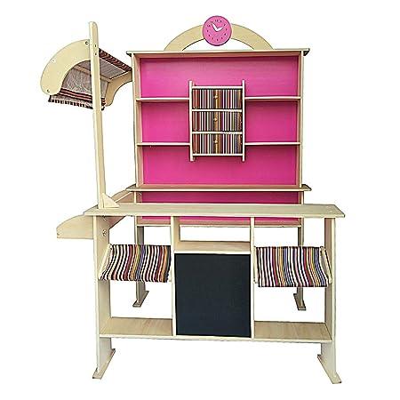 Amazon.com: Tienda de madera para niños, tienda de madera ...
