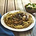 Chicken Marsala with Linguine and Roasted Broccoli by Chef'd Partner Kristina Kuzmic (Dinner for 2)
