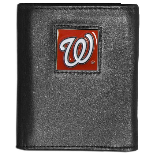 MLB Washington Nationals Leather Tri-fold Wallet