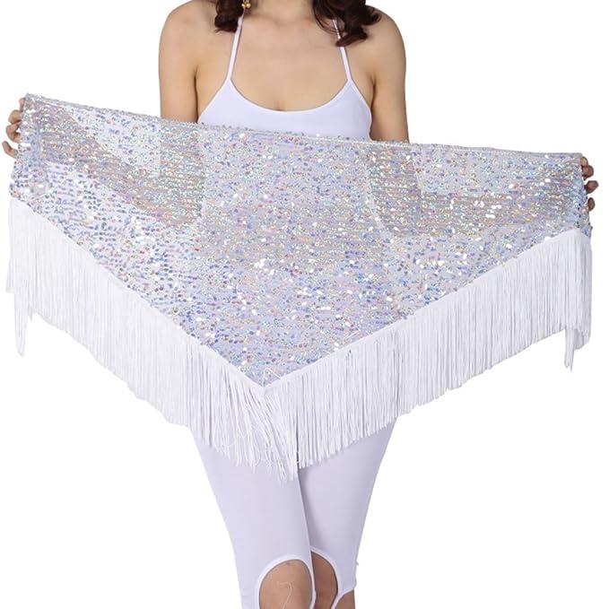 hougood triángulo de danza del vientre cadera bufanda falda cinturón ...