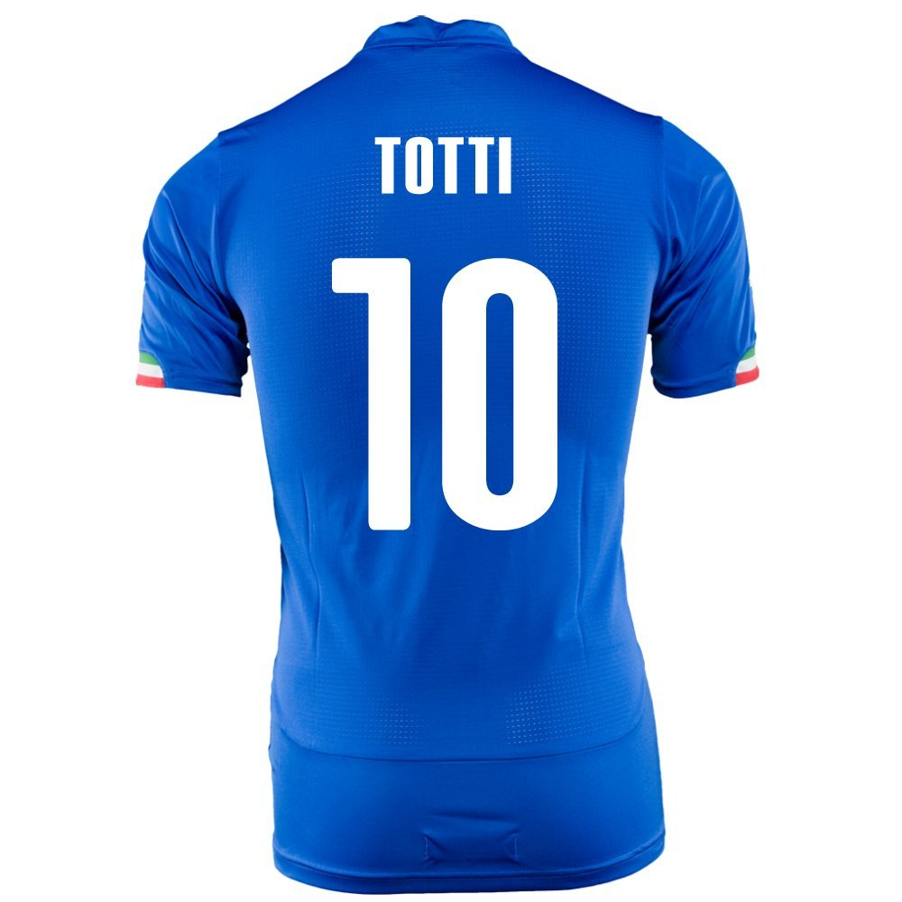 Puma TOTTI # 10 Italy Home Jersey World Cup 2014 (Youth) B0197GBEMA XL, 大漁カーペット c88f35d3