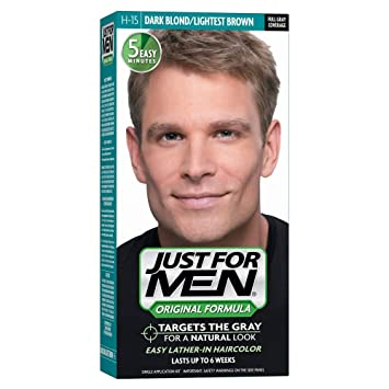 fcf776efae5 Amazon.com  JUST FOR MEN Hair Color H-15 Dark Blond 1 Each (Pack of 4)   Beauty