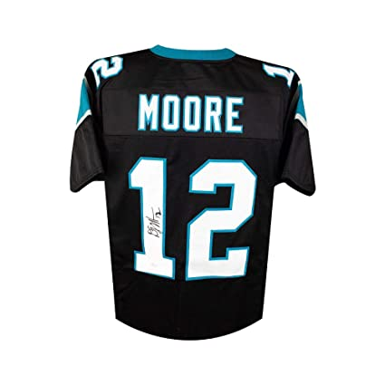 138bf555c D.J. Moore Autographed Carolina Panthers Custom Black Football Jersey - JSA  COA