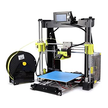 Aibecy RAISCUBE High Precision Desktop 3D Printer Kit Reprap Prusa I3 DIY  Selbstmontage 12864 LCD Bildschirm