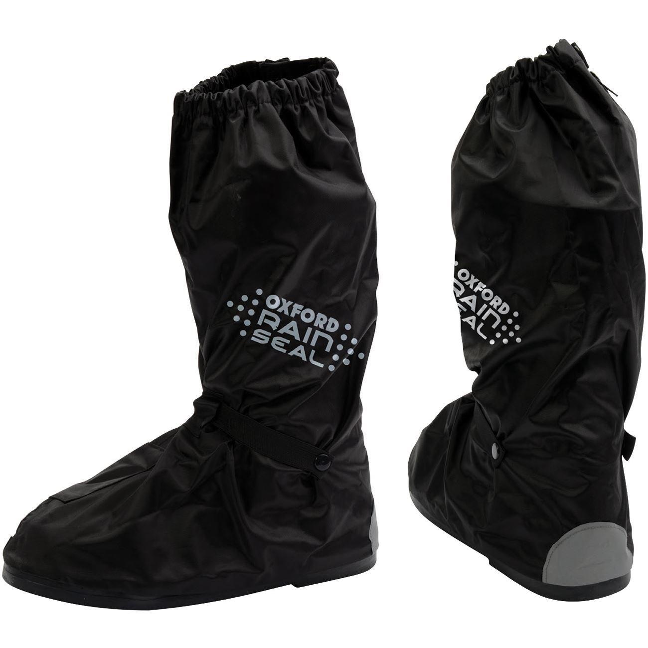 Oxford Rainseal Waterproof Motorcycle Over Boots - Black