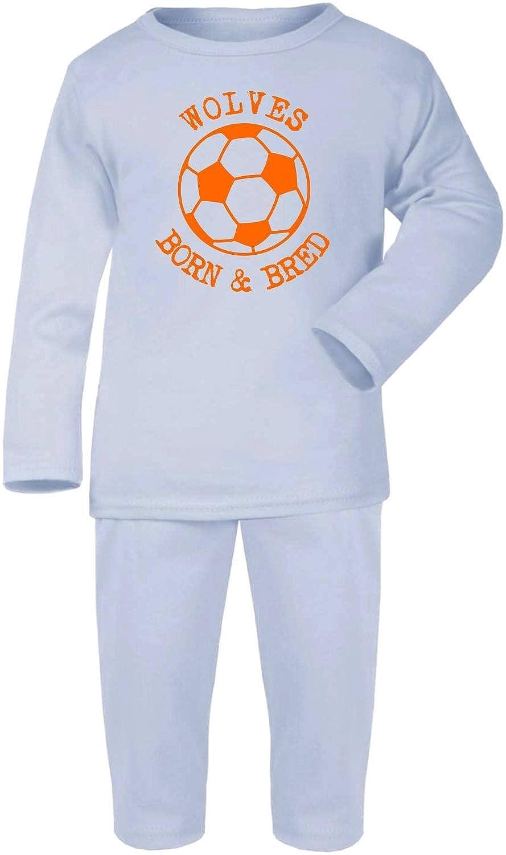Hat-Trick Designs Wolverhampton Wanderers Football Baby Pyjamas set PJs Nightwear/Sleepwear-Born & Bred-Unisex Gift