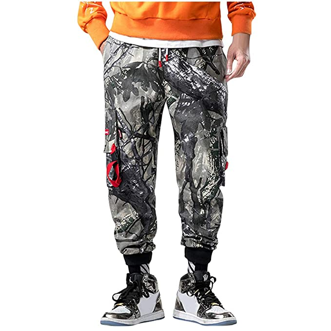 prevalent low price sale attractive & durable Amazon.com: Cargo Pants for Men Camo Big and Tall Joggers ...