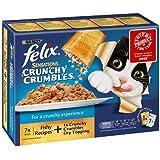 PET-71156 Felix Sensations Crunchy Crumbles Fish 7Pack (, 100g)