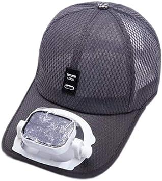 Enfriamiento del ventilador Sombrero de beisbol Carga dual USB ...