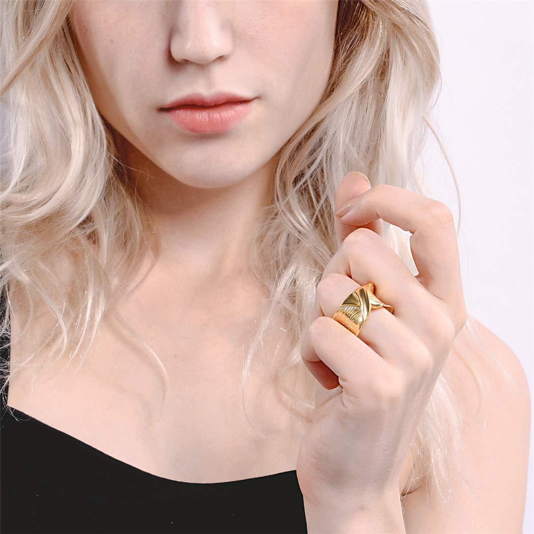 ChicSilver Bijoux Femme Anneau Simple X R/églable en Argent 925 Platine//Dor/é 18K//Rose Or Bague Vintage pour Fille et Femme