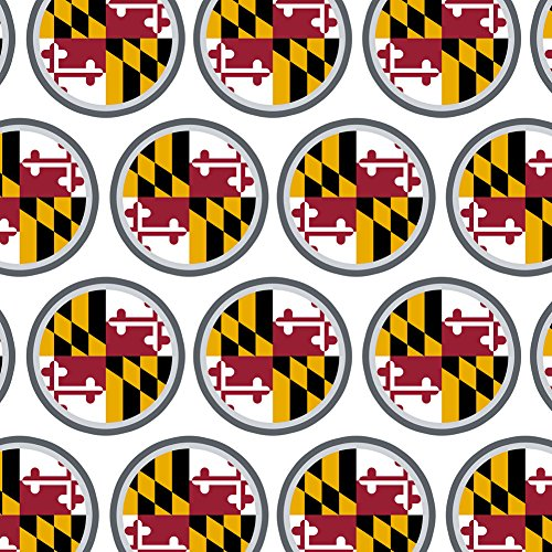 (Premium Gift Wrap Wrapping Paper Roll State Flag - Maryland State Flag)