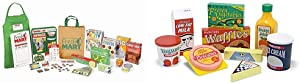 Melissa & Doug Fresh Mart Grocery Store Companion Collection (Best for 3, 4, 5 Year Olds and Up) & Fridge Food Wooden Play Food Set, The Original (Best for 3, 4, 5 Year Olds and Up)