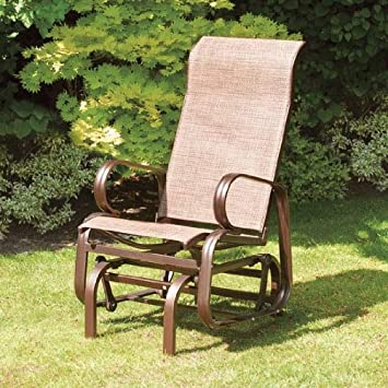Boston Bronze Single Seat Chair Glider by Suntime. Boston Bronze Single Seat Chair Glider by Suntime  Amazon co uk