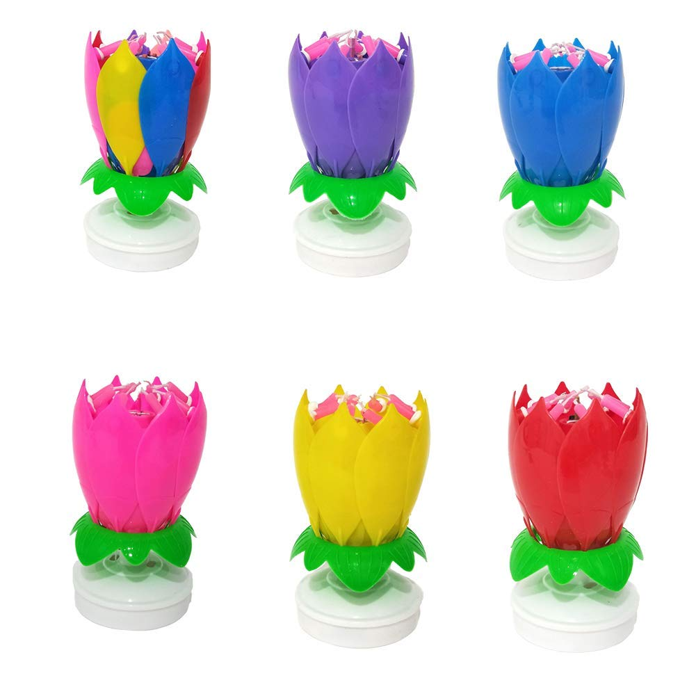 GREATDREAM Happy Birthday Candle,Cake Candles,Candle for Birthday (6multicolor)