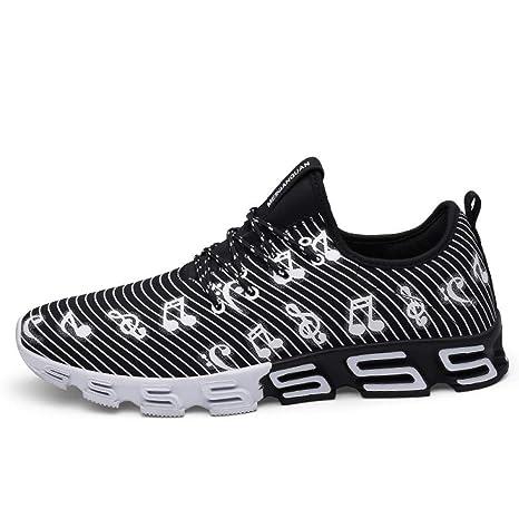 Hasag Zapatillas de Running para Hombres Zapatillas de Deporte de Verano Zapatillas de Deporte Hombre Zapatillas de Deporte Zapatillas de Deporte Símbolo de Calzado,Negro,7.5: Amazon.es: Deportes y aire libre
