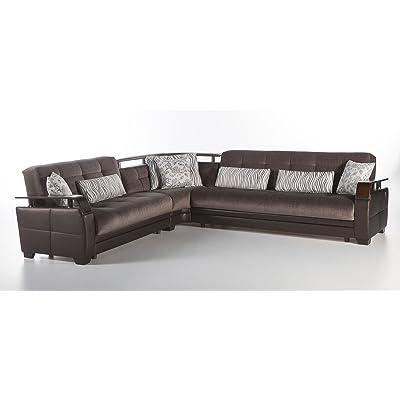Natural Sectional Sofa | Prestige Brown