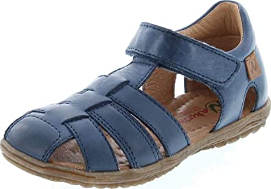 Closed Back Leather Fisherman Sandals