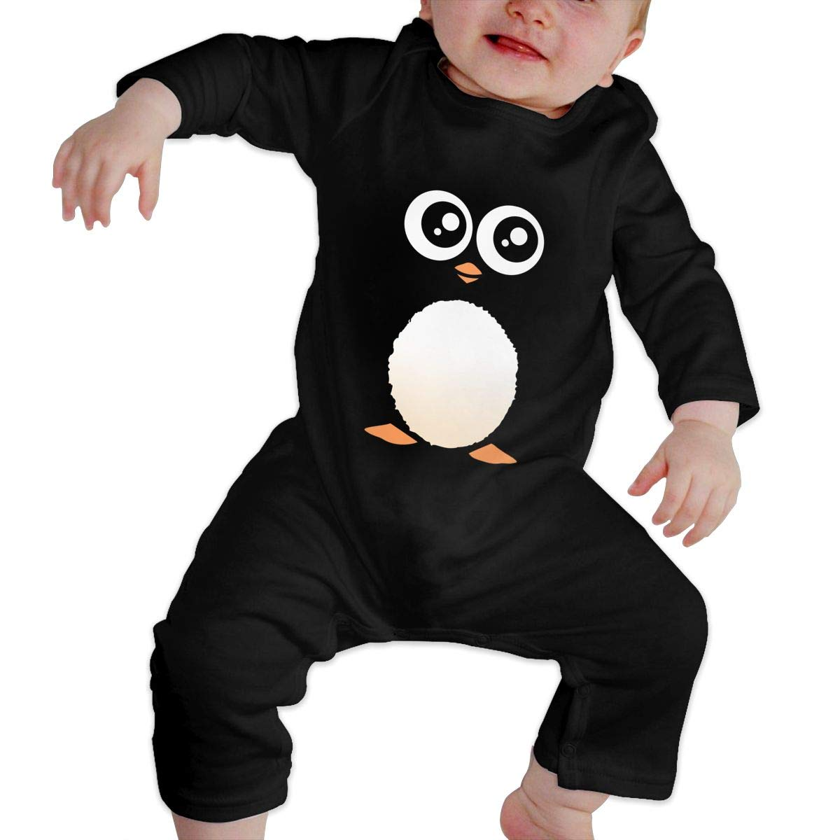 Mri-le1 Baby Boy Girl Organic Coverall Cute Penguin Toddler Jumpsuit