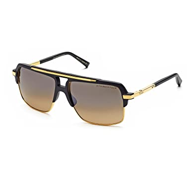 a23eacddc18b Image Unavailable. Image not available for. Color  Dita Mach Four 4  Sunglasses DRX 2070A Black Matte Black 18K Gold ...