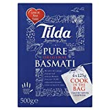 Tilda Pure Basmati Rice Cook in the Bag (4x125g) - Pack of 6