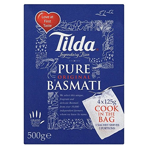 Tilda Pure Basmati Rice Cook in the Bag (4x125g) - Pack of 6 by Tilda