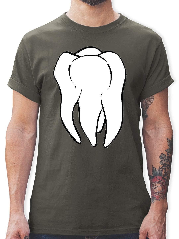 Herren T-Shirt Zahnfee Kostüm Fasching Karneval Fastnacht Zahn Fun-Shirt