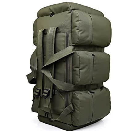 HSQM 90L large capacity military travel bags oxford canvas backpack  camouflage duffel bag waterproof backpack  Amazon.co.uk  Sports   Outdoors 02c79aed713