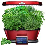 AeroGarden Bounty Elite with Gourmet Herb Seed Pod Kit, Red