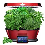 AeroGarden Bounty Elite with Gourmet Herb Seed Pod Kit, Red