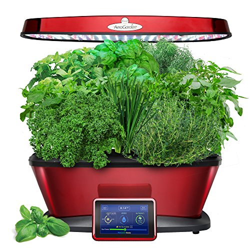$222.80 AeroGarden Bounty Elite with Gourmet Herb Seed Pod Kit, Red 2019