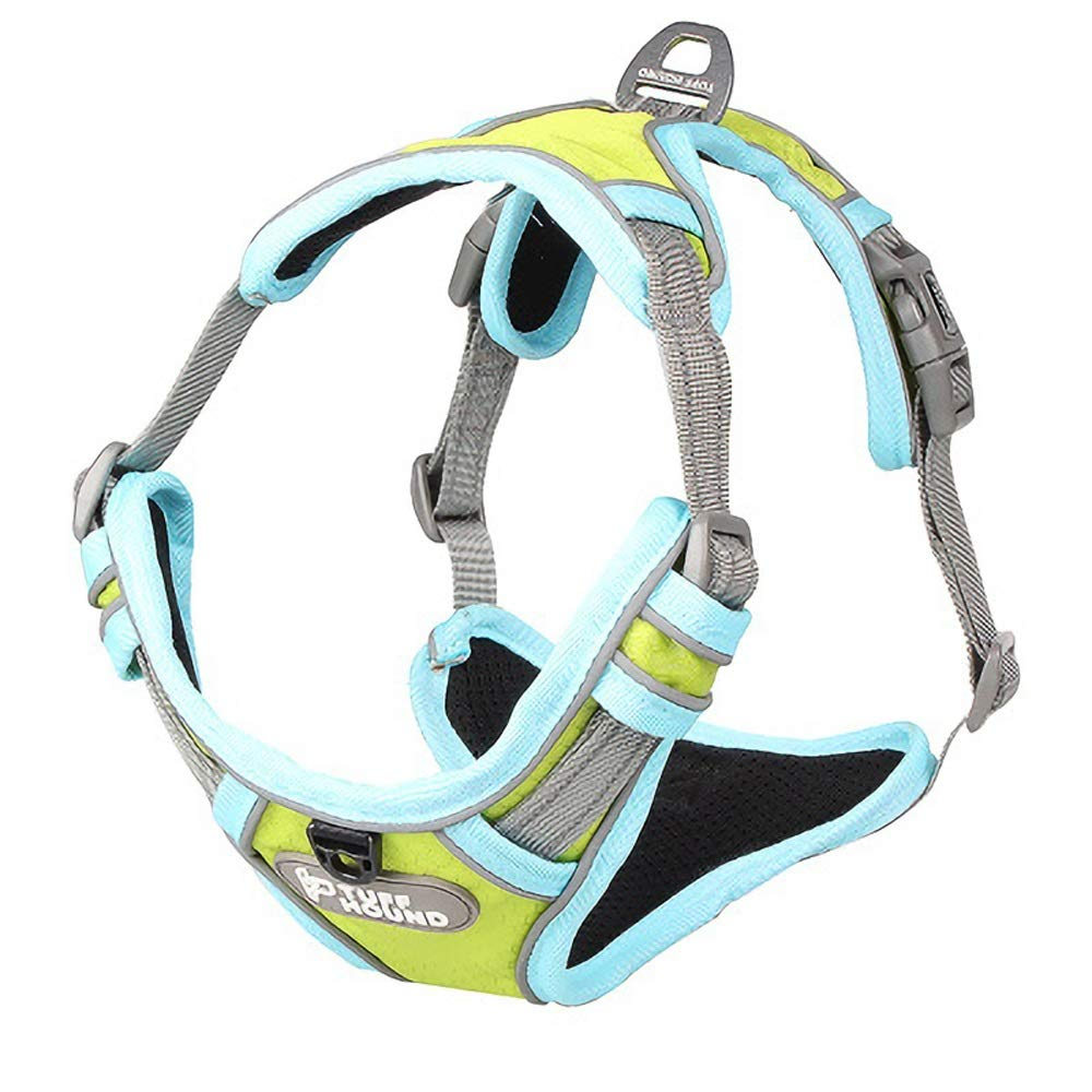 Light green 38-52cm Light green 38-52cm Dog Strap, Chest Strap with Large Pet Dog Hyena Traction Rope Lettering Waterproof Luminous Outdoor Adjustable Multi-color Size Traction Rope, Pet Chain Collar (Without Traction Rope)