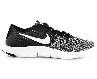innovative design b3386 b41a4 Amazon.com   Nike Women s Flex Contact Running Shoe Black White Size 12    Road Running