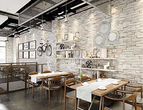 Camere Da Letto Stile Americano.Peiwenin Stile Americano Retro Wallpaper Bianco 3d Ristorante