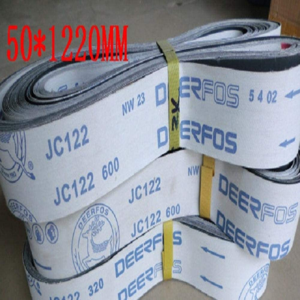 KJKJ Sanding Paper New 5pcs Silicon Carbide 1220 * 50MM Soft Cloth Belt Abrasive Sanding Belt for Wood Soft Metal 660 * 50mm 600660X50MM 801220x50mm