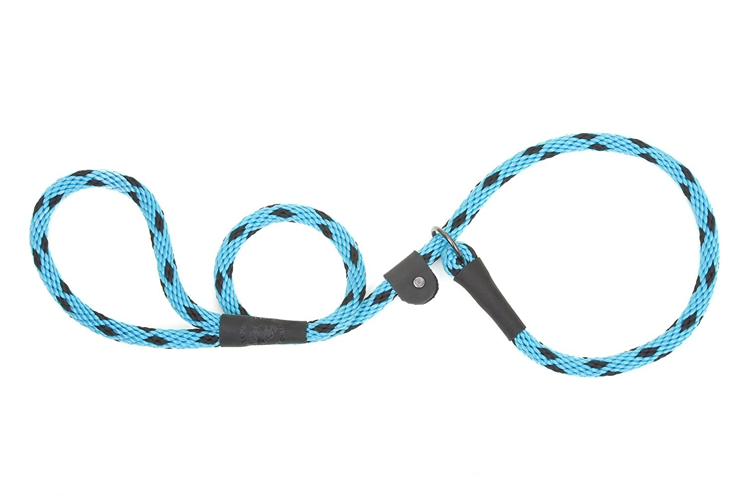 "durable service Mendota Products Dog Slip Lead, 3/8""x6', Black Ice Turquoise"